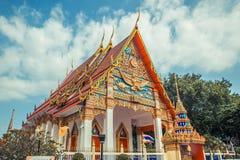 ναός Ταϊλανδός Ναός Phuket, Ταϊλάνδη Mongkol Nimit Wat Στοκ Φωτογραφίες