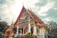 ναός Ταϊλανδός Ναός Phuket, Ταϊλάνδη Mongkol Nimit Wat Στοκ Εικόνες