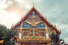 ναός Ταϊλανδός Ναός Phuket, Ταϊλάνδη Mongkol Nimit Wat Στοκ φωτογραφία με δικαίωμα ελεύθερης χρήσης