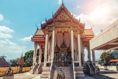 ναός Ταϊλανδός Ναός Phuket, Ταϊλάνδη Patong Suwankeereewong Wat Στοκ Φωτογραφίες