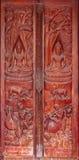 ναός Ταϊλανδός πορτών Στοκ Εικόνα
