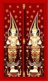 ναός Ταϊλανδός πορτών Στοκ φωτογραφίες με δικαίωμα ελεύθερης χρήσης