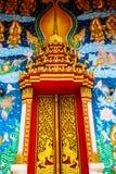 ναός Ταϊλανδός πορτών Στοκ Εικόνες