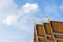 ναός Ταϊλανδός στεγών διάστημα αντιγράφων Στοκ φωτογραφίες με δικαίωμα ελεύθερης χρήσης