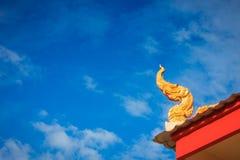 ναός Ταϊλανδός στεγών Στοκ εικόνα με δικαίωμα ελεύθερης χρήσης