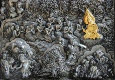 ναός Ταϊλανδός τέχνης Στοκ Εικόνες