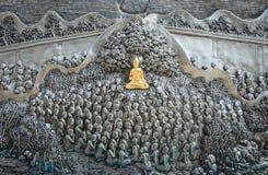 ναός Ταϊλανδός τέχνης Στοκ εικόνα με δικαίωμα ελεύθερης χρήσης
