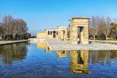 Ναός της αιγυπτιακής antic αρχιτεκτονικής Debod στη Μαδρίτη, Ισπανία Στοκ φωτογραφίες με δικαίωμα ελεύθερης χρήσης