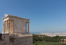 Ναός της ακρόπολη Αθήνα Αθηνάς Nike Στοκ φωτογραφία με δικαίωμα ελεύθερης χρήσης
