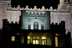 Ναός της Γιούτα Manti τη νύχτα Στοκ εικόνες με δικαίωμα ελεύθερης χρήσης