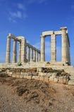 ναός της Ελλάδας poseidon Στοκ Φωτογραφίες