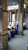 Ναός της Καμπότζης με τους τουρίστες Στοκ Εικόνες