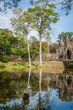 ναός της Καμπότζης angkor bayon thom Στοκ Εικόνες