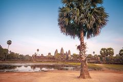 ναός της Καμπότζης angkor wat αρχαία αρχιτεκτονική Στοκ Εικόνα