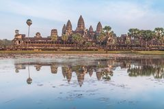 ναός της Καμπότζης angkor wat αρχαία αρχιτεκτονική Στοκ Φωτογραφία