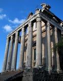 ναός της Ρώμης φόρουμ Στοκ Εικόνες