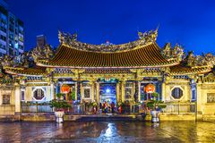 Ναός της Ταϊπέι Longshan Στοκ φωτογραφία με δικαίωμα ελεύθερης χρήσης