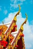 Ναός της Ταϊλάνδης στεγών Στοκ φωτογραφίες με δικαίωμα ελεύθερης χρήσης