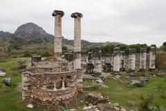 Ναός της Artemis Sardis Στοκ Φωτογραφίες