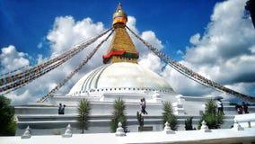Ναός της Nath Bouddha Στοκ φωτογραφία με δικαίωμα ελεύθερης χρήσης