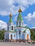 Ναός του βασιλεύοντας εικονιδίου της μητέρας του Θεού σε Yekaterinburg Στοκ Εικόνες