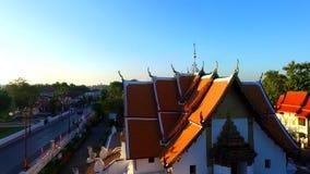 Ναός του Βούδα Επαρχία γιαγιάδων Wat Phusi απόθεμα βίντεο