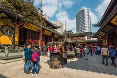 Ναός του Βούδα νεφριτών στη Σαγκάη Στοκ εικόνες με δικαίωμα ελεύθερης χρήσης
