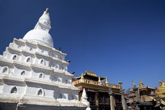 ναός του Κατμαντού Νεπάλ swayambu Στοκ Εικόνες