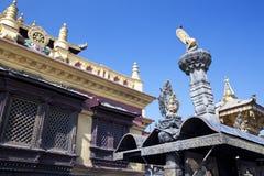 ναός του Κατμαντού Νεπάλ swayambu Στοκ φωτογραφίες με δικαίωμα ελεύθερης χρήσης