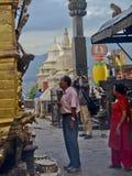 ναός του Νεπάλ πιθήκων Στοκ φωτογραφία με δικαίωμα ελεύθερης χρήσης