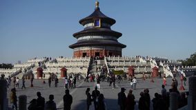 Ναός του ουρανού στο Πεκίνο Βασιλική αρχαία αρχιτεκτονική της Κίνας απόθεμα βίντεο