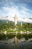 ναός τρία παγοδών στοκ φωτογραφία