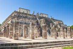 Ναός των πολεμιστών σε Chichen Itza σύνθετο, Yucatan, Μεξικό Στοκ εικόνα με δικαίωμα ελεύθερης χρήσης