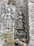 Ναός Angkor, Καμπότζη Bayon Apsara Στοκ εικόνα με δικαίωμα ελεύθερης χρήσης