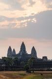 Ναός Angkor σύνθετος Στοκ Εικόνα