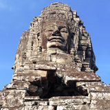 Ναός Angkor Thom, Καμπότζη Bayon αγαλμάτων Στοκ φωτογραφίες με δικαίωμα ελεύθερης χρήσης