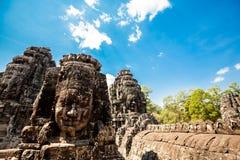 Ναός Angkor Thom Καμπότζη Bayon Στοκ εικόνα με δικαίωμα ελεύθερης χρήσης