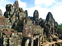 Ναός Angkor Thom, Καμπότζη Bayon Στοκ Φωτογραφία