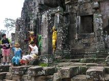 Ναός Angkor Thom, Καμπότζη Bayon Στοκ φωτογραφία με δικαίωμα ελεύθερης χρήσης