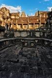 Ναός Angkor wat στο φως ηλιοβασιλέματος Στοκ Εικόνες