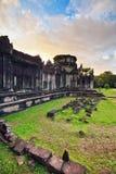 Ναός Angkor wat στο φως ηλιοβασιλέματος Στοκ εικόνα με δικαίωμα ελεύθερης χρήσης