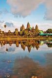 Ναός Angkor wat στο φως ηλιοβασιλέματος Στοκ Φωτογραφία