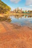 Ναός Angkor wat στο φως ηλιοβασιλέματος Στοκ Εικόνα