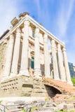 Ναός Antoninus και Faustina στο ρωμαϊκό φόρουμ στη Ρώμη, Ita Στοκ φωτογραφία με δικαίωμα ελεύθερης χρήσης