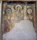 Ναός Antoninus και Faustina. Χρώμα Madonna και του παιδιού με τους Αγίους. Στοκ εικόνα με δικαίωμα ελεύθερης χρήσης
