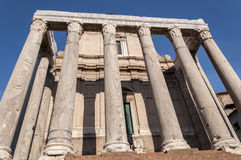 Ναός Antoninus και Faustina Στοκ εικόνα με δικαίωμα ελεύθερης χρήσης