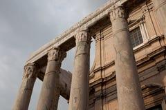 Ναός Antoninus και Faustina Στοκ Εικόνα