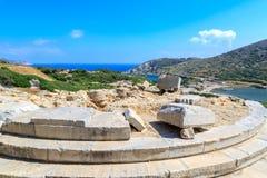 Ναός Aphrodite στα knidos πόλεων αρχαίου Έλληνα Στοκ Εικόνες