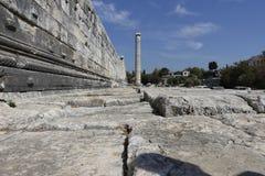 Ναός Apollon - Didyma/της Τουρκίας Στοκ Φωτογραφίες