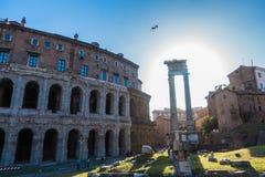 Ναός Apolo ` s και θέατρο του Marcello ` s - καταπληκτική Ρώμη, Ιταλία Στοκ Φωτογραφίες